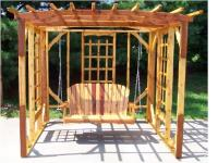 Click to enlarge image 50 inch Swing W/8 foot Pergola - A natural conversation piece!